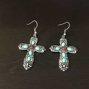 Accented Cross Earrings